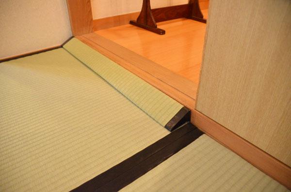 畳素材の段差解消スロープ