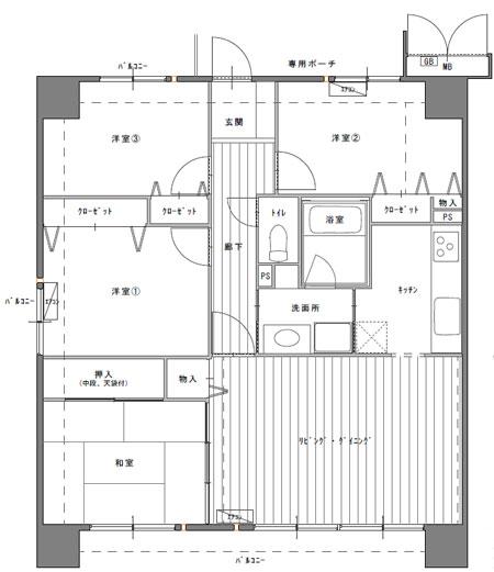 4ldkマンション間取り図