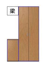 マンションの玄関収納のイメージ図