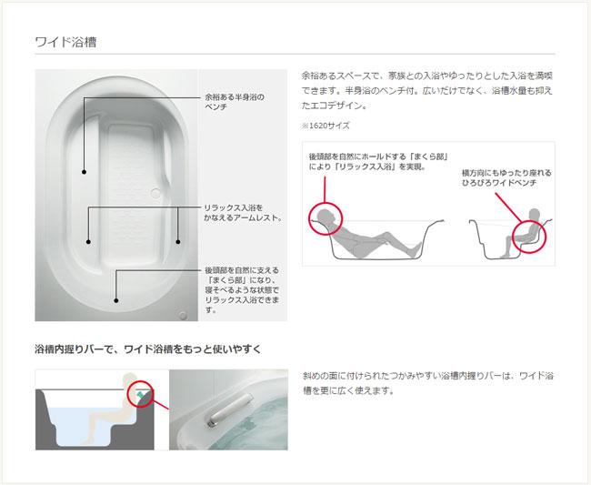 リクシル ワイド浴槽