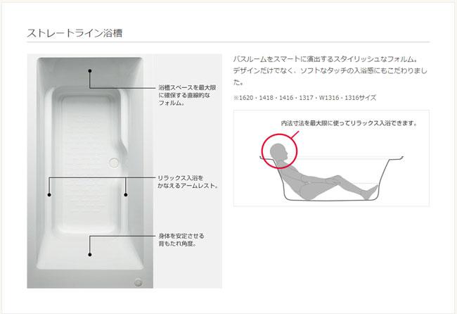リクシル ストレートライン浴槽
