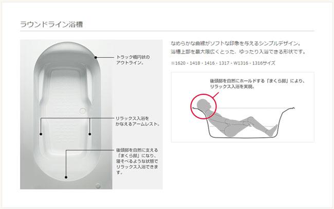 リクシル ラウンドライン浴槽