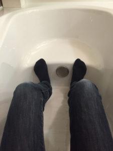 リクシル エコベンチ浴槽の中に入ったところ