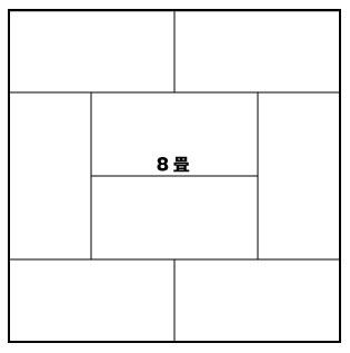 8畳の部屋の畳の敷き方