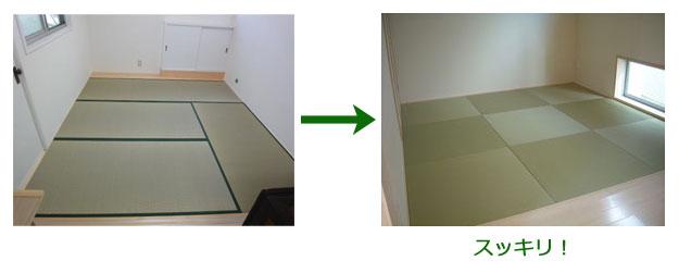 4畳半の和室に半畳たたみを敷いた場合