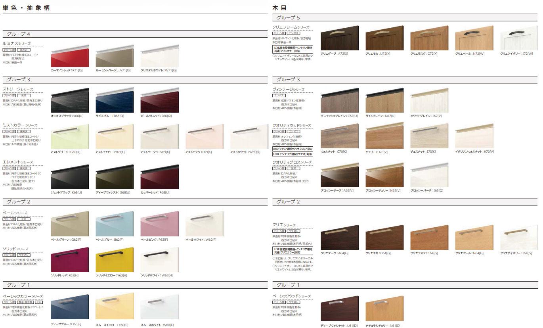 リクシルキッチン アレスタの扉デザイン