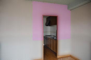 撤去するキッチンの間仕切り壁