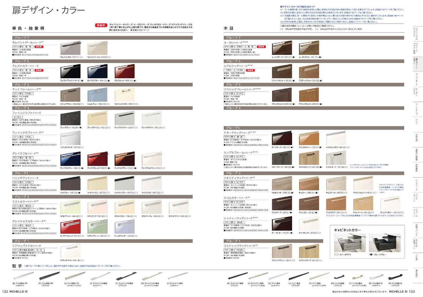 リクシル リシェルSIの扉デザイン・カラー一覧