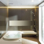 浴室の横長鏡に重なるスライドバーが嫌で、普通のシャワーフックを採用した話