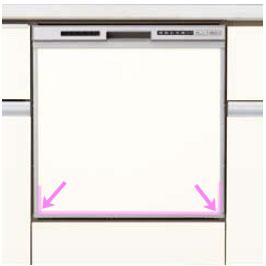 シエラ 浅型食洗機のパネル材仕様