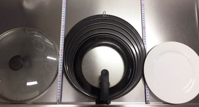 食洗機に入るサイズの比較