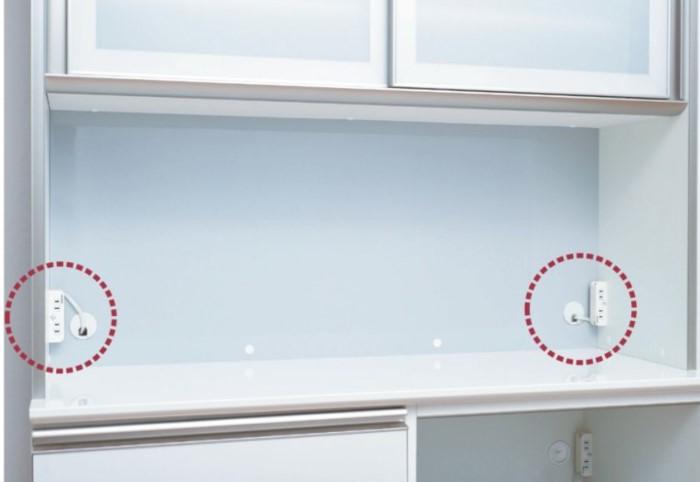 綾野製作所 食器棚のコンセント位置
