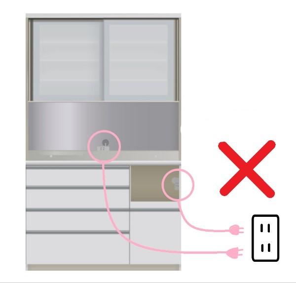 パモウナの電源コードを接続するときの注意点