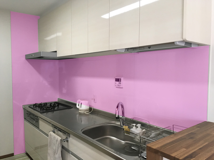 壁付キッチンI型 キッチンパネルの取付範囲